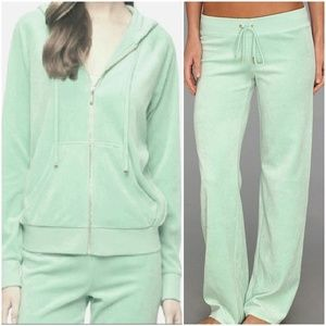 NWT Juicy Couture SET Velour Hooded Jacket & Pants